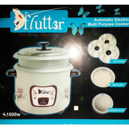 FLUTTER RICE COOKER WITH IDLY PLATE -