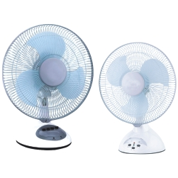 Rechargeable Table Fan with LED Light -