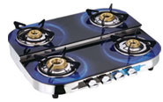 Gas Stove Glass Top Double Decker -